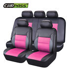 Car Pass Breathable Sandwich Leather Universal Car Seat Covers Fit 4060 5050