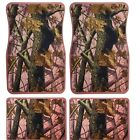 Universal Set 4pcs Car Floor Mats Rubber With Nice Pink Camouflage Tree Design