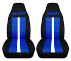 Fits Chevy S10 Bucket Front Car Seat Covers Black-dark Blue Wxtreme4x4zr2ss