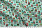 Coffee Christmas Holidays Fall Cafe Food Fabric Printed By Spoonflower Bty
