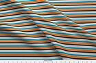 Stripes Orange Gray Blue Turquoise Giraffe Boy Fabric Printed By Spoonflower Bty