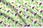 Parrot Tropical Bird Feathers Amazon Paradise Fabric Printed By Spoonflower Bty
