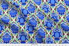 Blue Owls With Flowers Ogee Fabric Printed By Spoonflower Bty