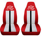 Fits Chevrolet Camaro Front Car Seat Covers Red-white Wbowtiecamarorsss