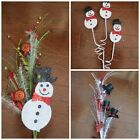 Christmas Pick Snowman Floral Design Wreath Holiday