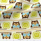Owl Animal Whimsical Cream Fabric Printed By Spoonflower Bty