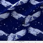 Night Owl Bird Scallop Fabric Printed By Spoonflower Bty