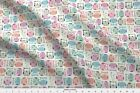 Feather Owl Bird Cute Fabric Printed By Spoonflower Bty