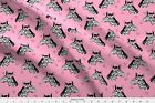 Zebra Pink Bow Bow Girls Fabric Printed By Spoonflower Bty