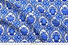 Owls Delft Blue And White Owls Ogee Fabric Printed By Spoonflower Bty