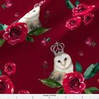 8 Winter Owls Mix Match Red Velvet Fabric Printed By Spoonflower Bty