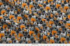 Halloween Trees Fall Autumn Owls Skull Skulls Fabric Printed By Spoonflower Bty