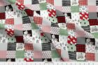 Winter Holiday Xmas Christmas Bear Plaid Snow Fabric Printed By Spoonflower Bty