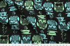 Coffee Cappacciono Latte Owl Fabric Printed By Spoonflower Bty