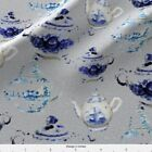 Tea Pot England English High Tea Fabric Printed By Spoonflower Bty