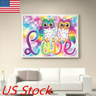 Owl Diy Full Drill Diamond Painting Cross Stitch Kits Home Decor Craft Gift Usa