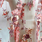 3d Embroidered Bead Flower Lace Appliques Patch Fabric Wedding Dress Diy Elegant