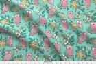 Owl Owls Flowers Floral Fall Forest Woodland Fabric Printed By Spoonflower Bty