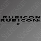 Jeep Wrangler Rubicon Decals Hood Stickers Set Of Two Over 40 Colors