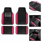 4pc Universal Carpet Floor Mats For Car Truck Suv 10 Colors W Free Gift