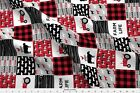 Patchwork Farm Red And Black Cows Tractor Farm Fabric Printed By Spoonflower Bty