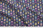 Owls Decorative Night Kids Cute Stars Graphic Fabric Printed By Spoonflower Bty