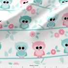 Baby Owl Owls Girl Fabric Printed By Spoonflower Bty