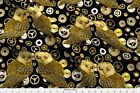 Steampunk Owls Birds Cogs Fabric Printed By Spoonflower Bty