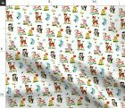 Cute Children Retro Vintage Easter Fabric Printed By Spoonflower Bty
