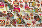 Owls Birds Flowers Likes Circles Leafs Fabric Printed By Spoonflower Bty