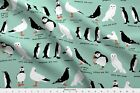 Birds Palette Limited Owl Seagull Penguin Fabric Printed By Spoonflower Bty