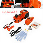 Electric 35-ton Car Hydraulic Floor Jack Garage Tool Set With Impact Wrench 12v
