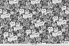 Owl Illustration Black And White Birds Fabric Printed By Spoonflower Bty
