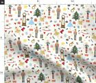 Nutcracker Christmas Ballet Tree Soldier Fabric Printed By Spoonflower Bty