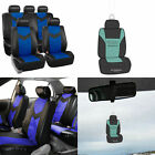 Complete Full Set Seat Covers Set Pu Leather For Auto W Gift 7 Colors