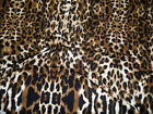 Fabric Printed Liverpool Textured 4 Way Stretch Scuba Leopard Taupe K201