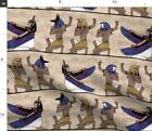 Egyptian Gods On Papyrus Ancient History Fabric Printed By Spoonflower Bty