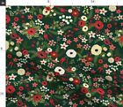 Christmas Floral Christmas Floral Vintage Fabric Printed By Spoonflower Bty