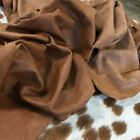 Full Aniline Lambskin Leather Hides Soft Blackpecan R.brown Choc 5-10 Sq Ft.