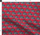 Cars Trucks Studebaker Vehicles Coupe Antique Fabric Printed By Spoonflower Bty