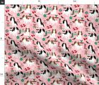 Christmas Dog Pink Dog King Charles Spaniel Fabric Printed By Spoonflower Bty