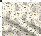 Woodland Floral Flowers Owl Boho Baby Girl Fabric Printed By Spoonflower Bty