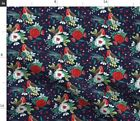 Christmas Floral Winter Holiday Christmas Fabric Printed By Spoonflower Bty