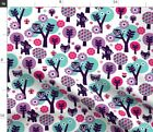 Deer Woodland Fox Owl Butterfly Baby Girl Fabric Printed By Spoonflower Bty