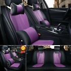 Universal Pu Leather 5 Seats Car Suv Seat Cover Cushion Full Set Protector Top