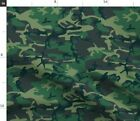 Camo Camouflage Green Brown U.s. Military Camo Fabric Printed By Spoonflower Bty