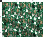 Holiday Cat Cat Cats Cat Christmas Xmas Cat Fabric Printed By Spoonflower Bty