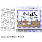 Bunny Mixed Print Transparent Clear Silicone Stampseal Scrapbookingphoto Album