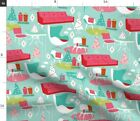 Mod Christmas Kitsch Christmas Holiday Fabric Printed By Spoonflower Bty