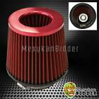 4 Inlet Red Short Ramcold Intake High Flow Mesh Cone Air Filter Fit Universal